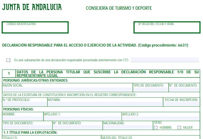 Verantwortungserklaerung touristische Vermietung Andalusien